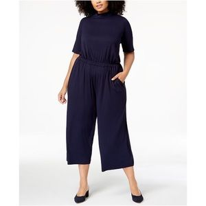 Eileen Fisher plus size stretch jersey jumpsuit